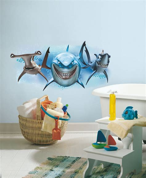 nemo wall stickers finding nemo sharks wall stickers mural disney 1 decal
