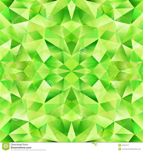 abstract green pattern green abstract crystal vector seamless pattern stock