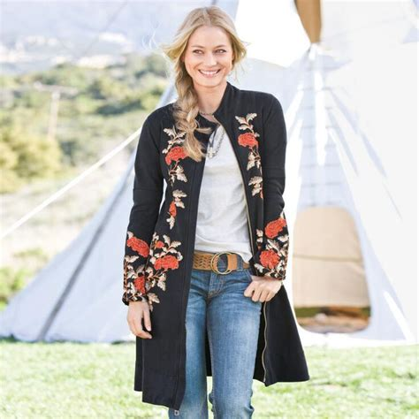 Home Decor Shops Uk by Floral Embroidered Stella Coat Coats Outerwear