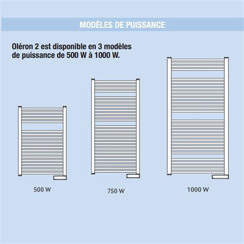 Puissance Radiateur Seche Serviette 4033 by Radiateur Oleron 2 S 232 Che Serviette 500w Noirot
