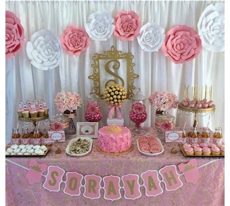 baby shower table tema princesa mesas de postres pinterest babies