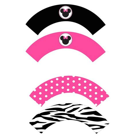 printable zebra cupcake wrappers minnie mouse free printables minnie cupcake wrappers