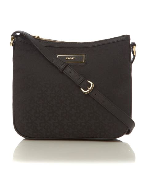 dkny saffiano crossbody bag in black lyst