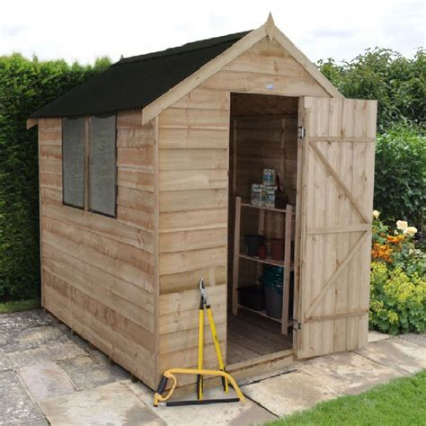 Elbec Garden Sheds by Forest Overlap Apex Shed Pt With Onduline Roof 8x6 Elbec Garden Buildings