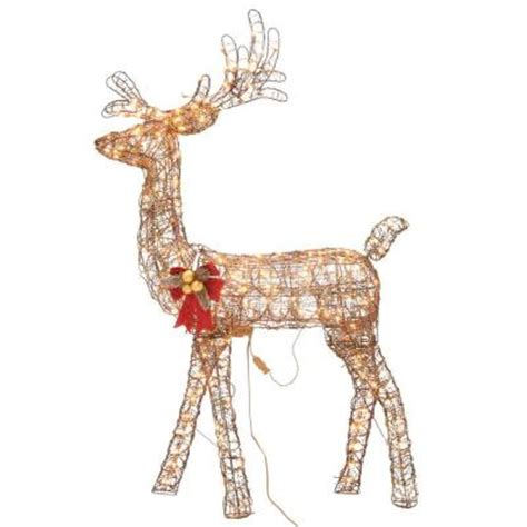grapevine animated lighted deer home accents 5 ft pre lit animated grapevine standing deer ty455 1211 3 the home depot