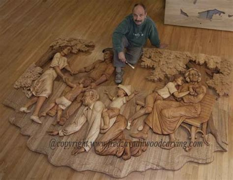 Used Furniture Kitchener Relief Carving Woodcarving And Sculpting By Fred Zavadil