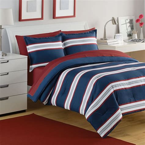 red and white striped comforter red and white rugby stripe bedding rug designs