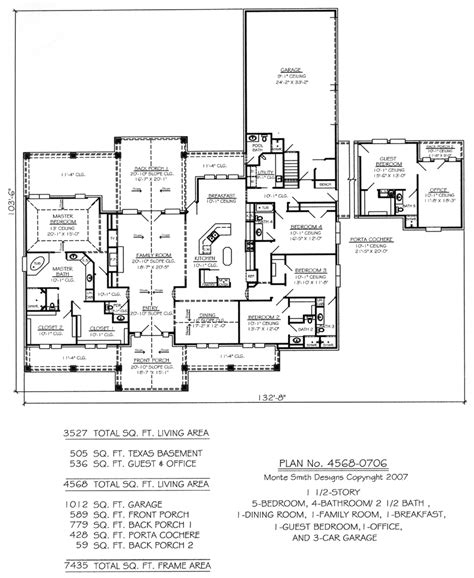 5 bedroom 4 bathroom house plans plan no 4568 0706
