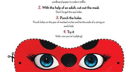 printable ladybug mask miraculous ladybug mask craft printable coloring pages