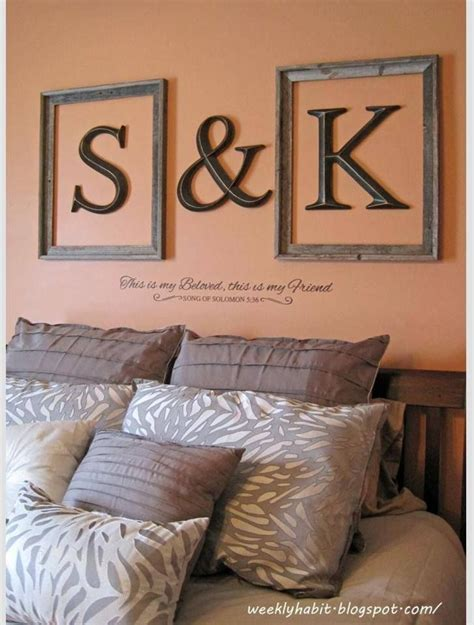 25 best ideas about monogram above bed on
