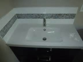 bathroom vanity backsplash cutting edge construction
