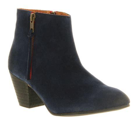 womens office boy navy suede boots ebay