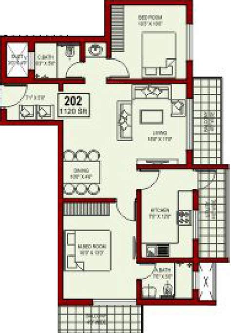 palazzo floor plan 1120 sq ft 2 bhk 2t apartment for sale in sunshine royal palazzo surathkal mangalore