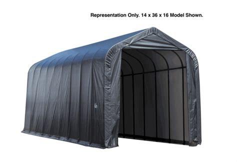 Patio Tarps Awnings Shelterlogic 14 X 40 X 16 Peak Style Portable Garage