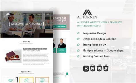 Attorney Lawyer Website Html5 Template Bootstrap Lawyer Web Templates