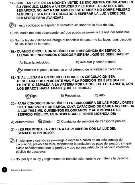 preguntas del examen de manejo guadalajara gu 237 a completa para presentar el examen vial en jalisco