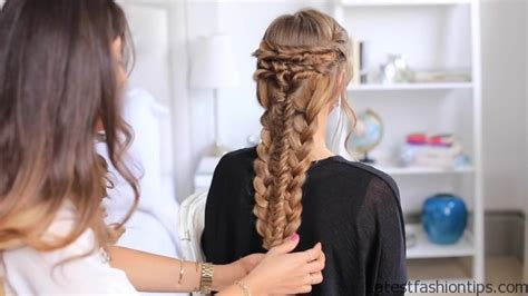 layered twist hair styles layered braid hair tutorial latestfashiontips com