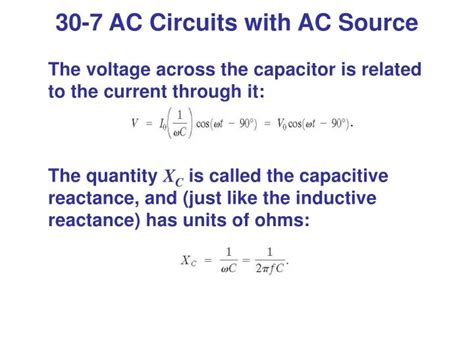 capacitive reactance unit of measure ppt inductance and ac circuits powerpoint presentation id 6342170