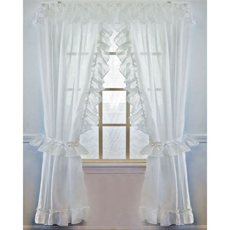 white priscilla curtains jessica sheer ruffled priscilla curtain