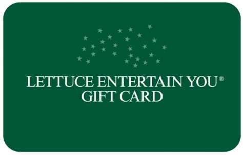 Lettuce Entertainment Gift Card - three dots and a dash