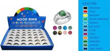 mood ring colors chart mood rings retroland