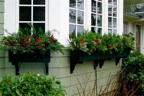 christmas window box decor window boxes pinterest