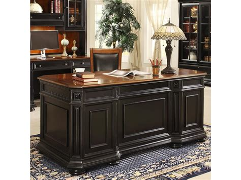 executive desks office furniture riverside home office executive desk 44732 hickory