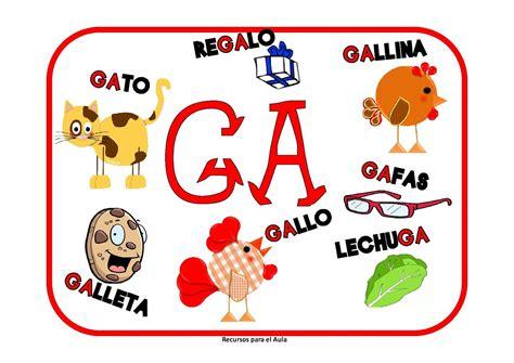 imagenes que empiecen con la letra ga learning is fun carteles ga go gu gue gui g 220 e g 220 i