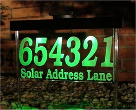 Solar Address L by Personalized House Markers Address Signs Plaques