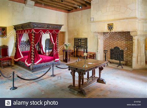 leonardo da vinci house bedroom of leonardo da vinci at his home chateau clos luce stock photo royalty free