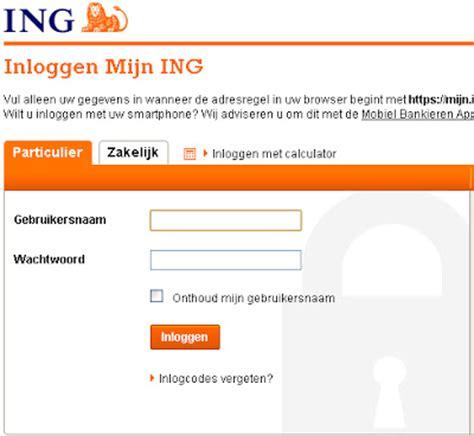 ing bank nl mijn ing bank inloggen ing nl internetbankieren direct