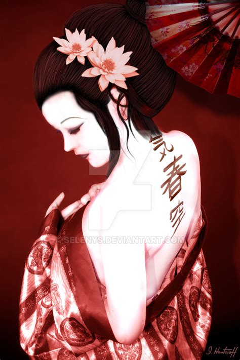 japanese tattoo art geisha geisha by selenys on deviantart