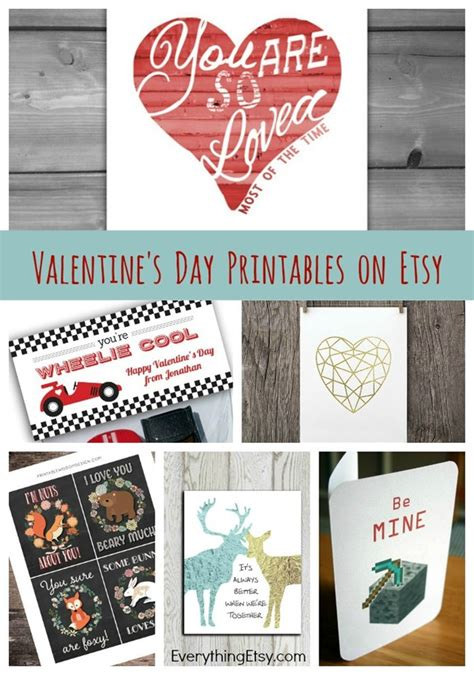 Where Can You Get Etsy Gift Cards - 8 great valentine s day printables on etsy