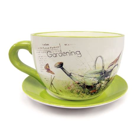 Tea Cup Planter by Tea Cup Planter Meadow Buy At Qd Stores