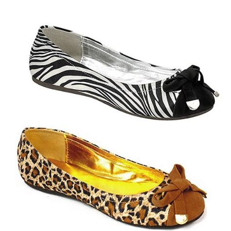 zebra print flats shoes deal on animal print ballet flats bows liliana rockit 18