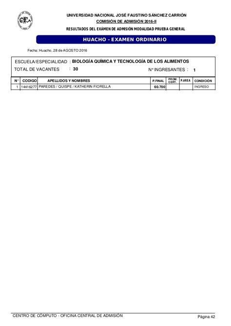 resultado unprg 2016 ii examen de admision ordinario resultados del ex 225 men de admisi 243 n ordinario del 28 de