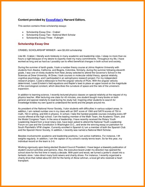 Sle Scholarship Application Essays by Cover Letter For Scholarship Essay 28 Images Cover Letter For Scholarship Jvwithmenow Write