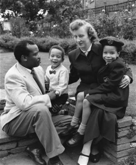 what is the name of the black couple in liberty mutual sir seretse khama and ruth williams khama photos