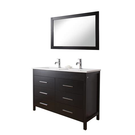 lowes bathroom vanity cabinet shop vigo maxine double sink bathroom vanities espresso