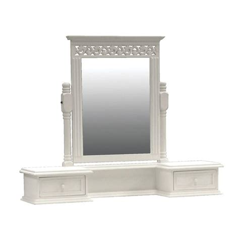 Mirror And Drawers by White Belgravia Wooden Shabby Chic Vanity Mirror Drawers
