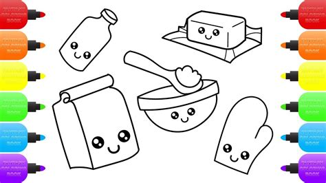 toy kitchen coloring page cute kitchen accessories how to draw kitchen set toys for