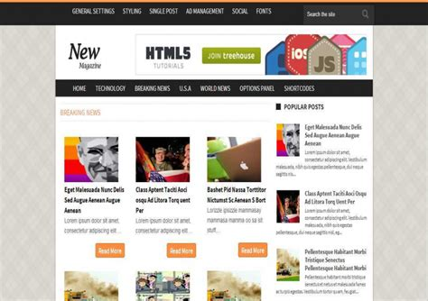 news magazine responsive blogger template free download