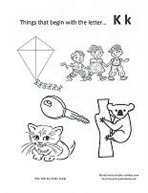 color that begins with k print out coloring pages