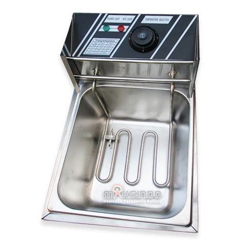 Fryer Gas 6 Liter Goreng Kentang Nugget Sosis Ayam Chicken jual mesin fryer listrik mks 81b di malang toko mesin maksindo di malang toko mesin