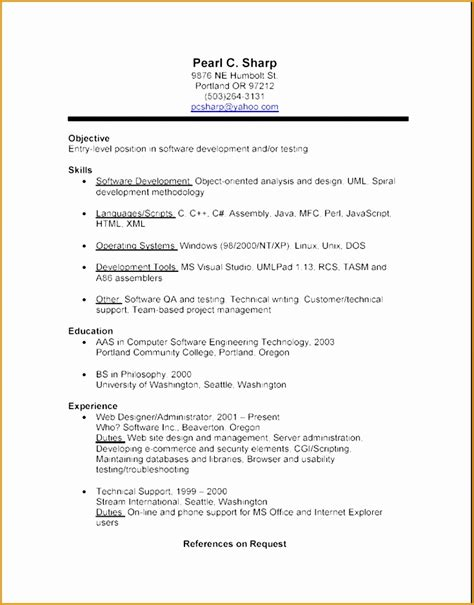 Resume Sles For Experienced Bpo Professionals sle resume format for bpo 28 images resume format for