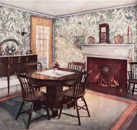 1920s Colonial Furniture 1926 Traditional Dining Room Colonial Style Dining Room Furniture