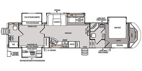 5th wheel cer floor plans wildwood fifth wheel floor plans 2014 wildwood by forest river heritage glen lite fifth