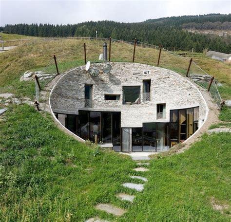 houses on hills house inside a hill villa vals