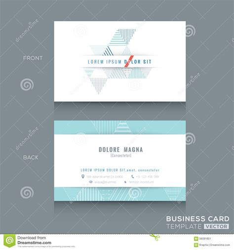 triangle shaped business card template minimal clean triangle design business card template stock