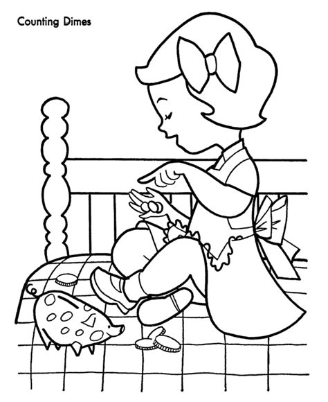 counting sheets for kids coloring home